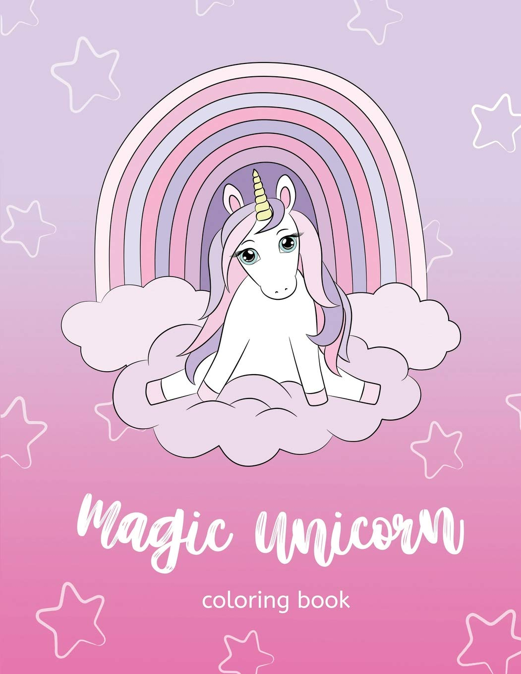 Magic Unicorn Coloring Book Simple Coloring Pages For Toddlers Coloring Book For Kids Ages 2 3 4 5 Sirius Octopus 9781790640713 Amazon Com Books