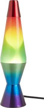 Hand Painted Base Rainbow Lava Lamp