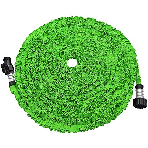 soled Expandable Garden Hose, Strongest Expanding Garden Hose on The Market with Triple Layer Latex Core & Latest Improved Extra Strength Fabric Protection for All Your Watering Needs (Green)