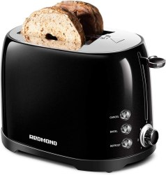 """REDMOND Retro Toaster 2 Slice Stainless Steel Compact Bagel Toaster with 1.5""""Extra Wide Slots, 7 Bread Shade Settings"""