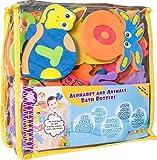Foam Bath Toys 100% Non-Toxic Preschool Alphabet - Best Baby Bath Toys Toddlers Kids Girls Boys - Premium Educational Floating Bathtub Toys - Biggest Set Letters Animals (26 Puzzles - 52 Items)