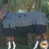 """Product review for 78"""" HILASON 1200D RIPSTOP WATERPROOF TURNOUT WINTER HORSE SHEET GREY BLACK"""