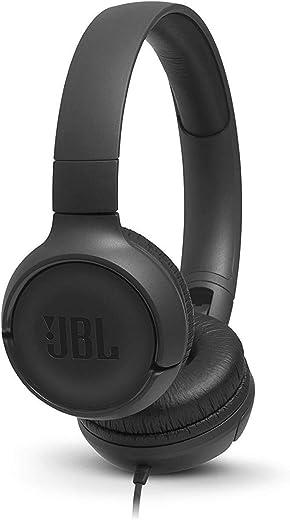 JBL Tune 500 Casque Supra-Auriculaire avec Fil - Léger et Pliable - Écouteurs Confortables - Avec Commande Mains Libres - Microphone Intégré, Bluetooth, Noir