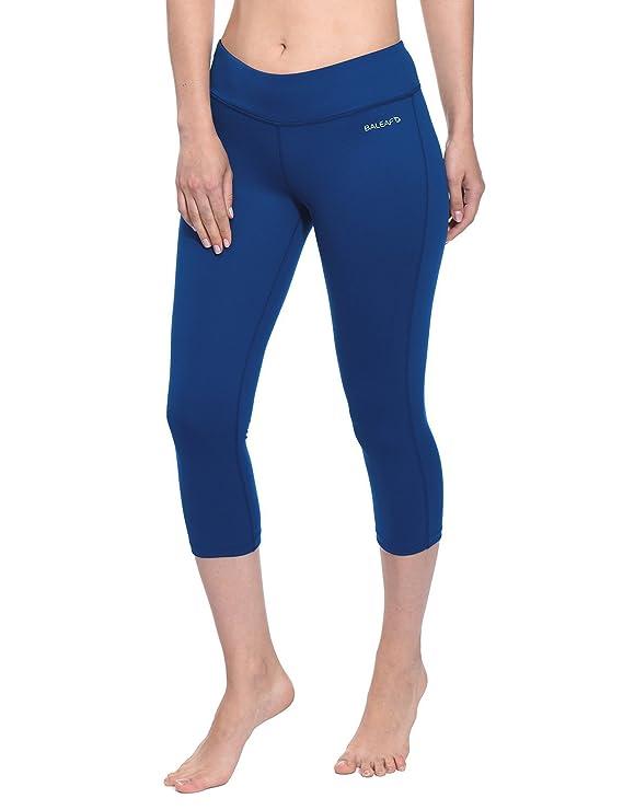 Baleaf Women s Yoga Capri Pants Workout Running Legging Inner Pocket fe3980094