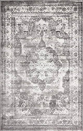 Unique Loom 3134092 Area Rug, 5' x 8' Rectangle, Gray