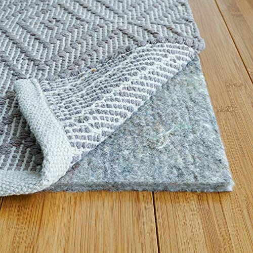 RUGPADUSA, 9' x 12', 1/3' Thick, Basics 100% Felt Rug Pad, Safe for All Floors and Finishes, Made in the USA