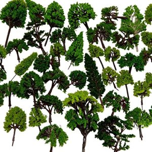 NW 32pcs Mixed Model Trees Model Train Scenery Architecture Trees Model Scenery with No Stands(0.79-6.30inch) 61Nd9zal6NL