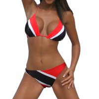 VOARYISA Women's Caribbean Flag Rasta Bikini Swimsuit Swimwear Bathing Suit