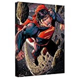 Superman Space Flight Stretched Canvas Framed Artwrap, 8x12