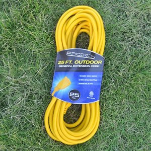 Epicord 16/3 Outdoor Extension Cord Heavy Duty Extension Cord 3 Conductor 25Feet (Yellow)