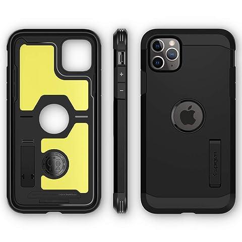 【Spigen】 iPhone 11 Pro ケース 5.8インチ 対応 超耐衝撃 新モデル スタンド機能 米軍MIL規格取得 カメラ保護 傷防止 衝撃 吸収 Qi充電 ワイヤレス充電 タフ・アーマー XP 077CS27447 (ブラック)