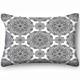 Traditional Ornament Oriental Abstract Home Decor Wedding Gift Engagement Present Housewarming Gift Cushion Cover 20X30 Inch