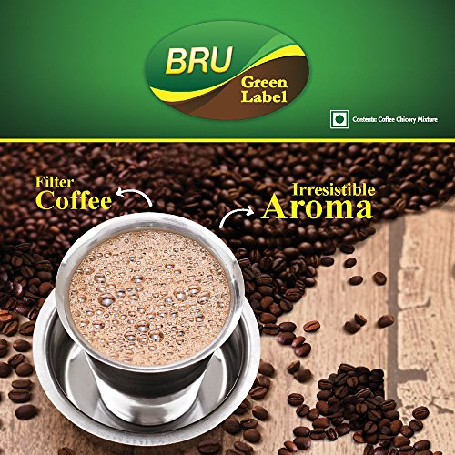 61OQQ8InoxL - Bru Green Label Filter Coffee - Ground & Roast, 500 g