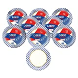 Dixie Ultra Heavy Duty Paper Plates, 10 1/16', 176 Count, 8 Packs of 22 Plates, Dinner Size Printed Disposable Plates