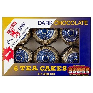 Tunnock's Tea Cakes Dark Chocolate 6 x 24g – Pack of 2 61OhulfJKEL