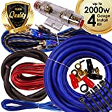 Complete 2000W Gravity 4 Gauge Amplifier Installation Wiring Kit Amp PK2 4 Ga Blue- for Installer and DIY Hobbyist - Perfect for Car/Truck/Motorcycle/RV/ATV