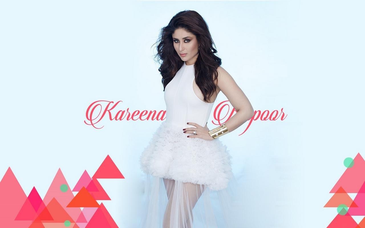 kareena kapoor poster in white skirt