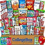 College Box Care Package (45 Count) Snacks Cookies Bars Chips Candy Ultimate Variety Gift Box Pack Assortment Basket Bundle Mixed Sampler Treats College Students Office Fall Semester Back to School