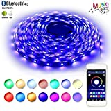 LED Strip Lights, Flexible Strip Lights, BAILONGJU LED Lights Sync to Music 32.8ft 300leds 10m Non-Waterproof RGB Color Changing SMD 5050 Adhesive Light Strip with Bluetooth Smartphone App Controlled