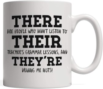There, Their & They're Mug
