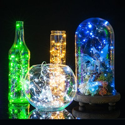 Supernight 6 pack battery operated led string lights tiny micro led string lights oak leaf micro 30 leds super bright wire rope lights battery operated on 98 ft long copper color ultra thin string copper wire f home mozeypictures Gallery
