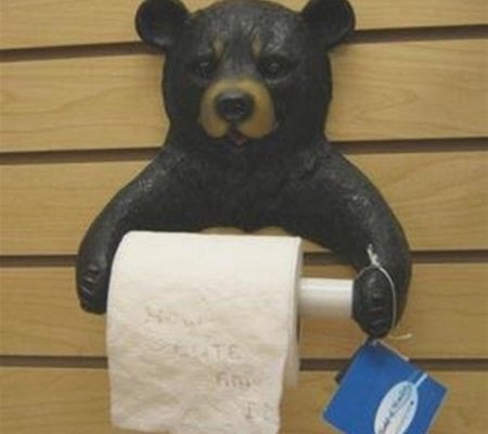 Fancy Bear Toilet Paper Holder