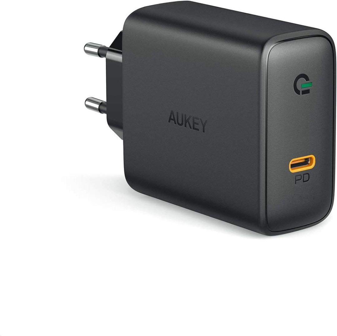 """AUKEY USB C Chargeur doté de GaN, Chargeur Mural USB avec 60W Power Delivery 3.0, Compatible avec MacBook Pro 13"""", iPhone 11/11 Pro/ 11 Pro Max, Xiaomi Mi 9, Nintendo Switch etc."""