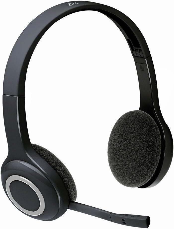 ロジクール ヘッドセット パソコン用 H600r ステレオ USBレシーバー経由ワイヤレス接続 充電式 ノイズキャンセリングマイク搭載 折り畳み式 国内正規品 3年間メーカー保証
