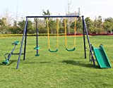Movement God Metal A-Frame Swing Set w/ Slide