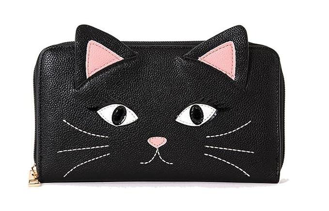 Cartera negra de gato para mujerhttps://amzn.to/2LbqLi7