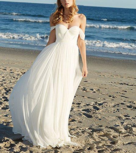 Lovelybride Elegant a Line Empire Long Chiffon Bridal Beach Wedding ...