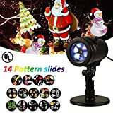LIGHTESS Christmas Lights Projector Outdoor Indoor Halloween Decorations Waterproof LED Landscape Spotlight for Xmas Theme Party Store Window and Gard
