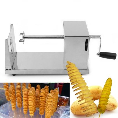 Solid Twisted Potato Slicer Spiral Vegetable Cutter French Fry