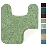 Maples Rugs Bathroom Rugs - SofTec Contour Non Slip Washable Bath Mat [Made in USA] Soft & Quick Dry for Vanity and Shower, Sage