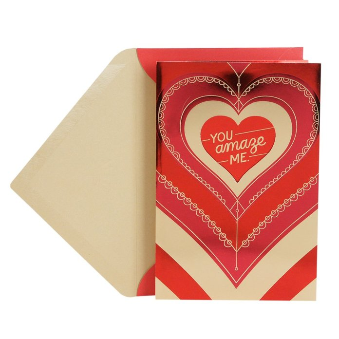 Hallmark Valentine's day greeting card