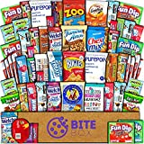 BiteBox Care Package (60 Count) Snacks Cookies Bars Chips Candy Ultimate Variety Gift Box Pack Assortment Basket Bundle Mixed Bulk Sampler Treats College Students Office Fall Semester Back to School
