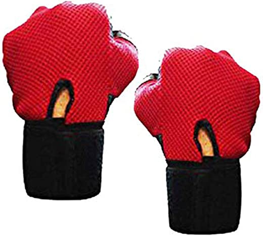 5 O'Clock Sports Gym Gloves for Men with Wrist Support Band for Weight Training Gym & Fitness Gloves (Red)