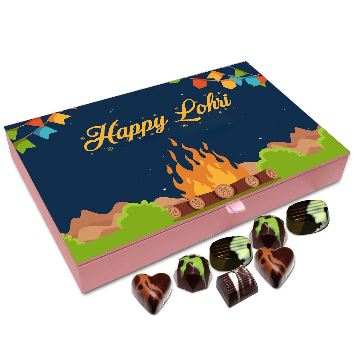 Chocholik Lohri Gift Box – Happy Lohri to All Chocolate Box – 12pc