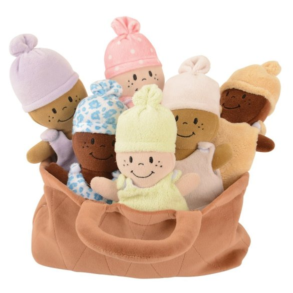 Soft dolls basket of Babies Kids Multicultural Diversity Materials