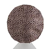 Luxury Microfibre Lined Shower Caps -Three Layer Hair Protection - Reusable - Comfortable Fit - Leopard Design