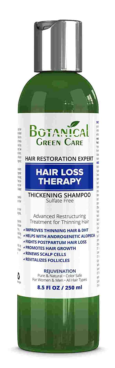"""""""Hair Loss Therapy"""" Sulfate-Free Caffeine SHAMPOO, Alopecia Prevention and DHT Blocker. Anti-Hair Loss/Hair Growth Shampoo. Doctor Developed. NEW 2018 FORMULA!"""