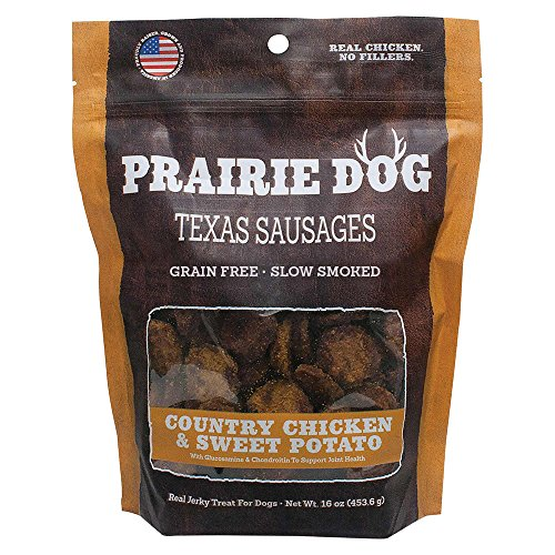 Prairie Dog Pet Products Country Chicken & Sweet Potato, Texas Sausages 16Oz 1