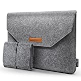 HOMIEE 15 Inch MacBook Pro Sleeve Protective Laptop Case for 15 Inch MacBook Pro 2015-2018, Dell XPS 15, Dell Inspiron 7000 Pro 15.6, HP Envy X360 and Pavilion 15, Shockproof Carrying Bag, Light Gray