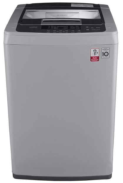 LG 6.5 kg Inverter Fully-Automatic Top Loading Washing Machine Under 20000 (-T7569NDDLH.ASFPEIL , Middle Free Silver)