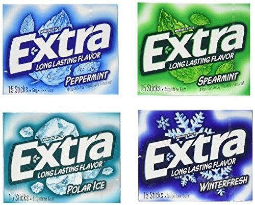 Extra Sugarfree Mint Gum Variety Box, 18 Count