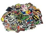 Cool Sticker 100pcs Random Music Film Vinyl Skateboard Guitar Travel Case Sticker Door Laptop Luggage Car Bike Bicycle Stickers (100pcs)