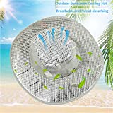 Xianful Hydro Cooling Sun Hat Summer Sunscreen Heatstroke Hat UV Protection Hat Caps Wide Brim Outdoor Hot Weather Cooling HatBreathable Bucket Fishing Hats for Men Women Gardening Beach Camping