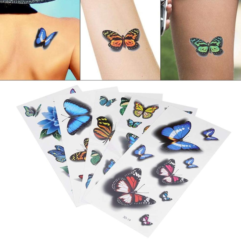 Amazoncom Value Home Tools 5pcs 3d Butterfly Disposable Tattoo