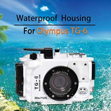 Seafrog-WPC-TG6-Waterproof-housing-case-Underwater-Diving-195FT60M-Works-for-Olympus-TG-6-Cameras-White