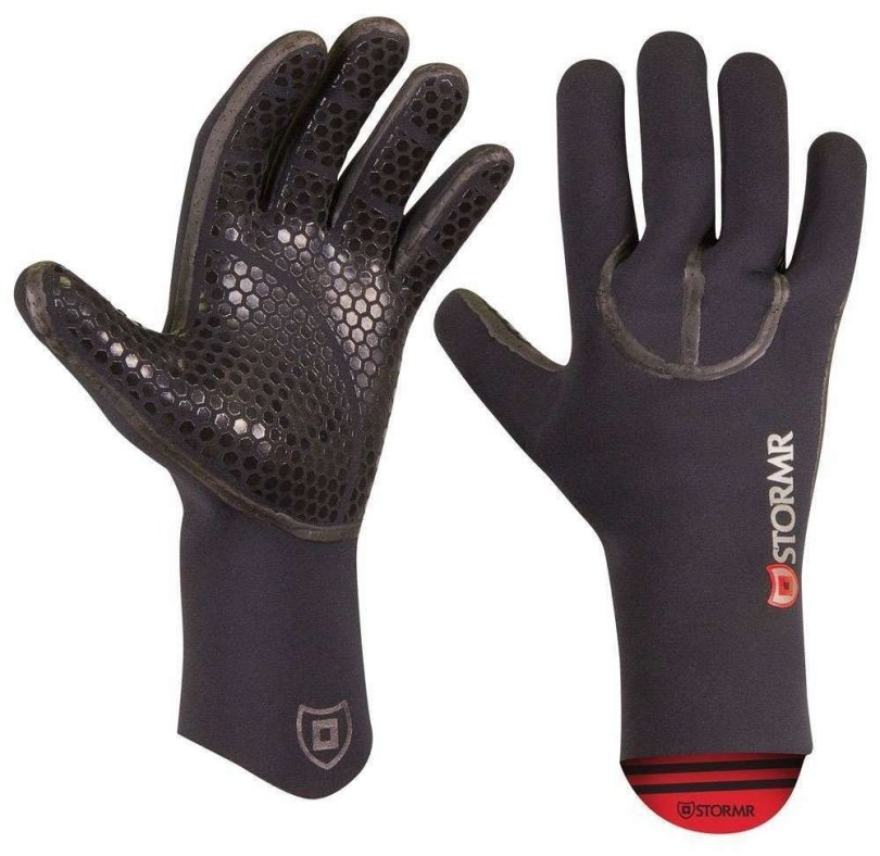 Stormr Typhoon Women and Men's Durable Yet Comfortable Fishing Glove with High Stretch Premium Micro-fleece Lined 3MM Neoprene: Best Used for Ice Fishing, Winter Conditions, and Foul Weather (Black, Large)